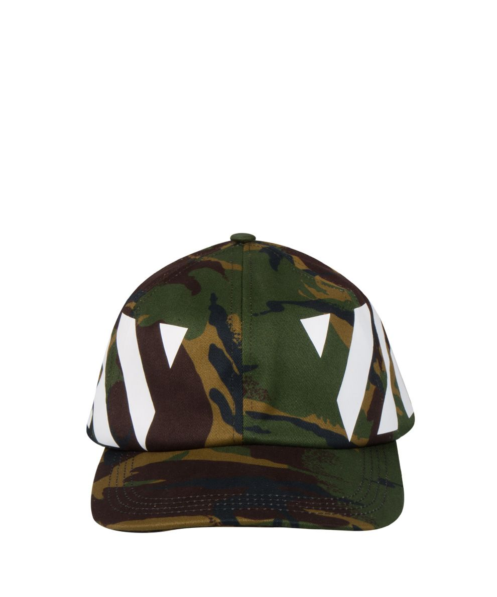 Off-White Diagonal Camouflage Cotton Cap
