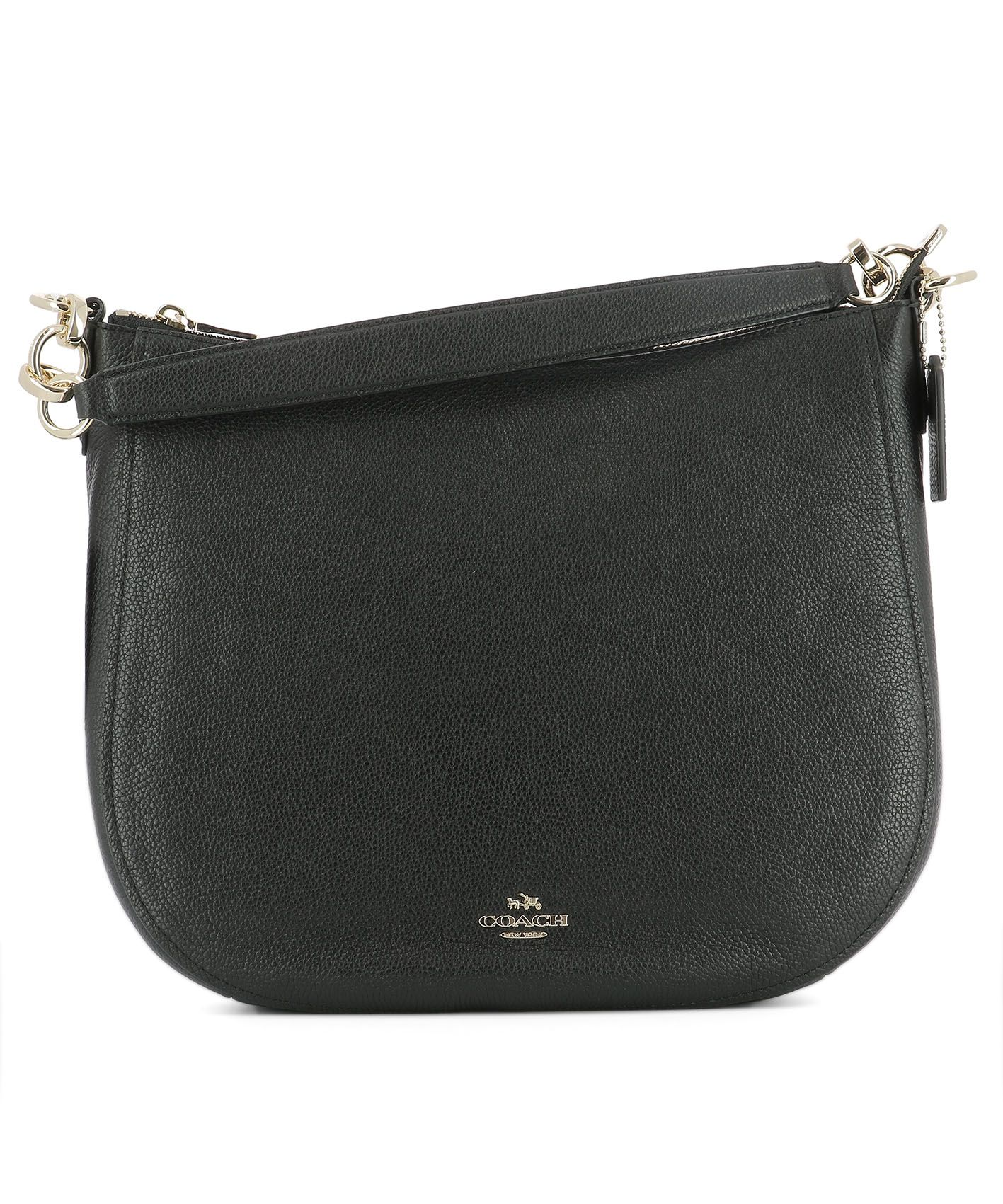 Black Leather Handle Bag