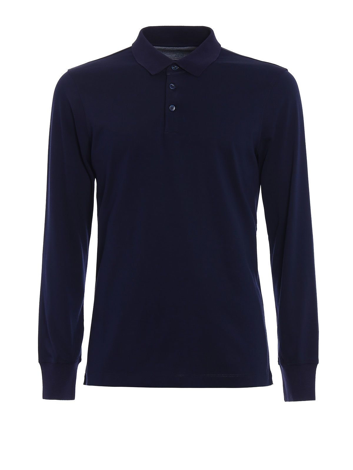 Melange Cotton Jersey Polo