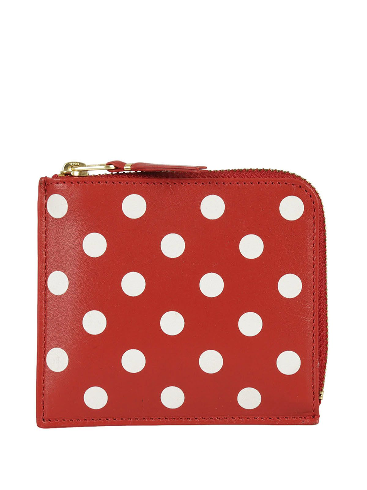 Comme Des Garçons Wallets Polka Dot Zip Around Wallet