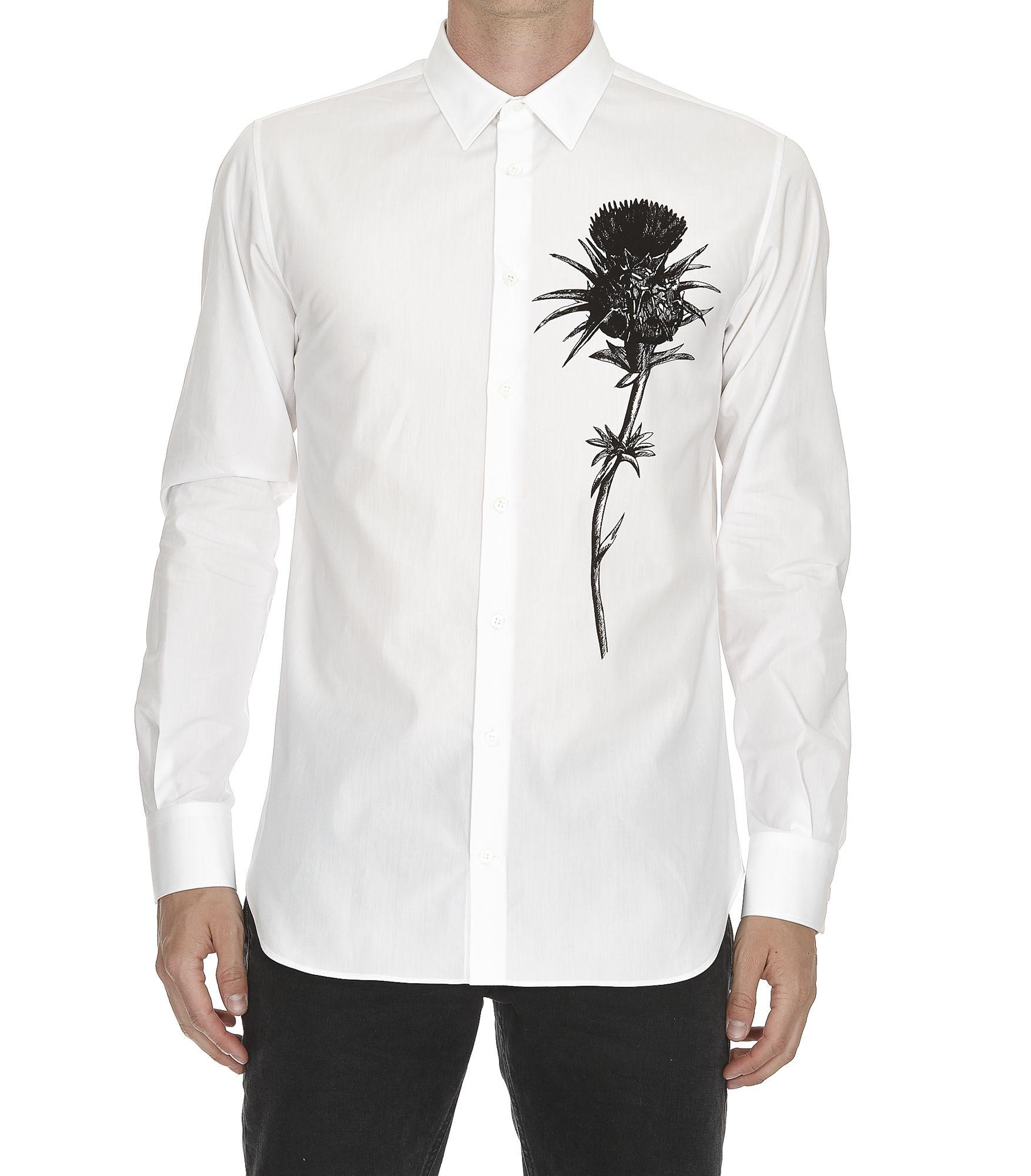 Alexander Mcqueen Thistle Print Shirt