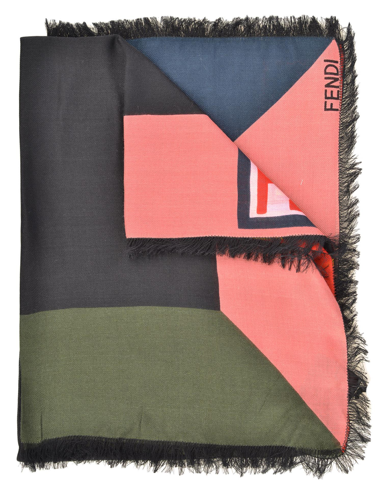 Fendi Wool And Silk Scarf