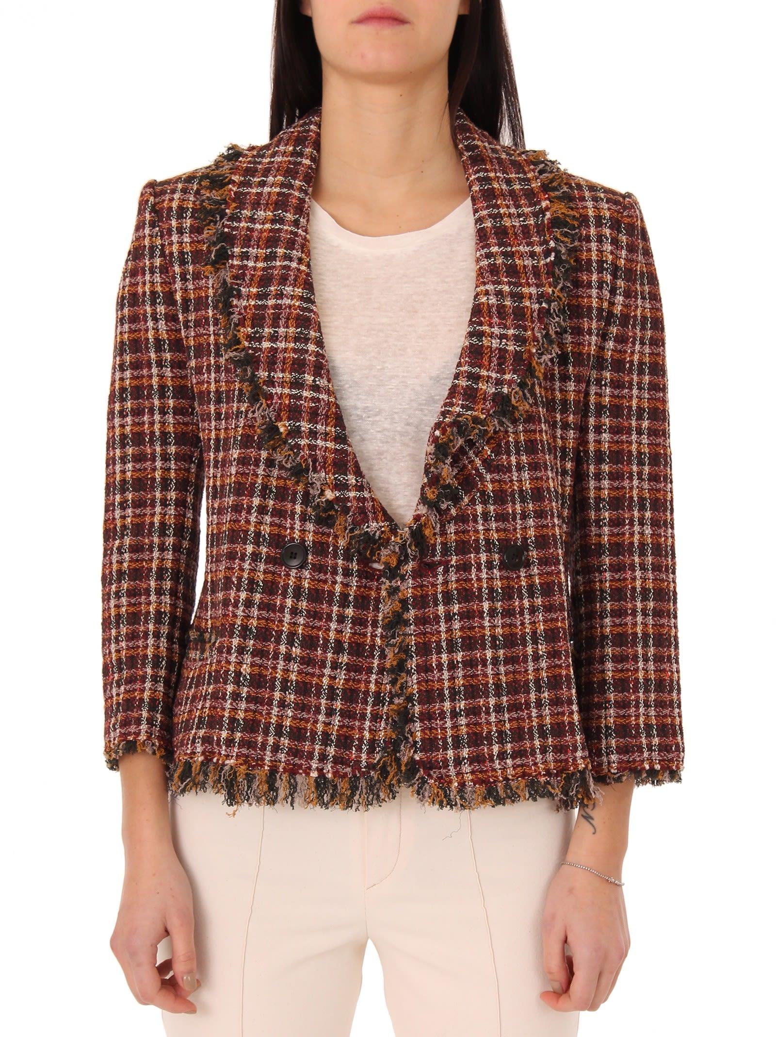 Isabel Marant Etoile Burgundy Tweed Nicole Jacket