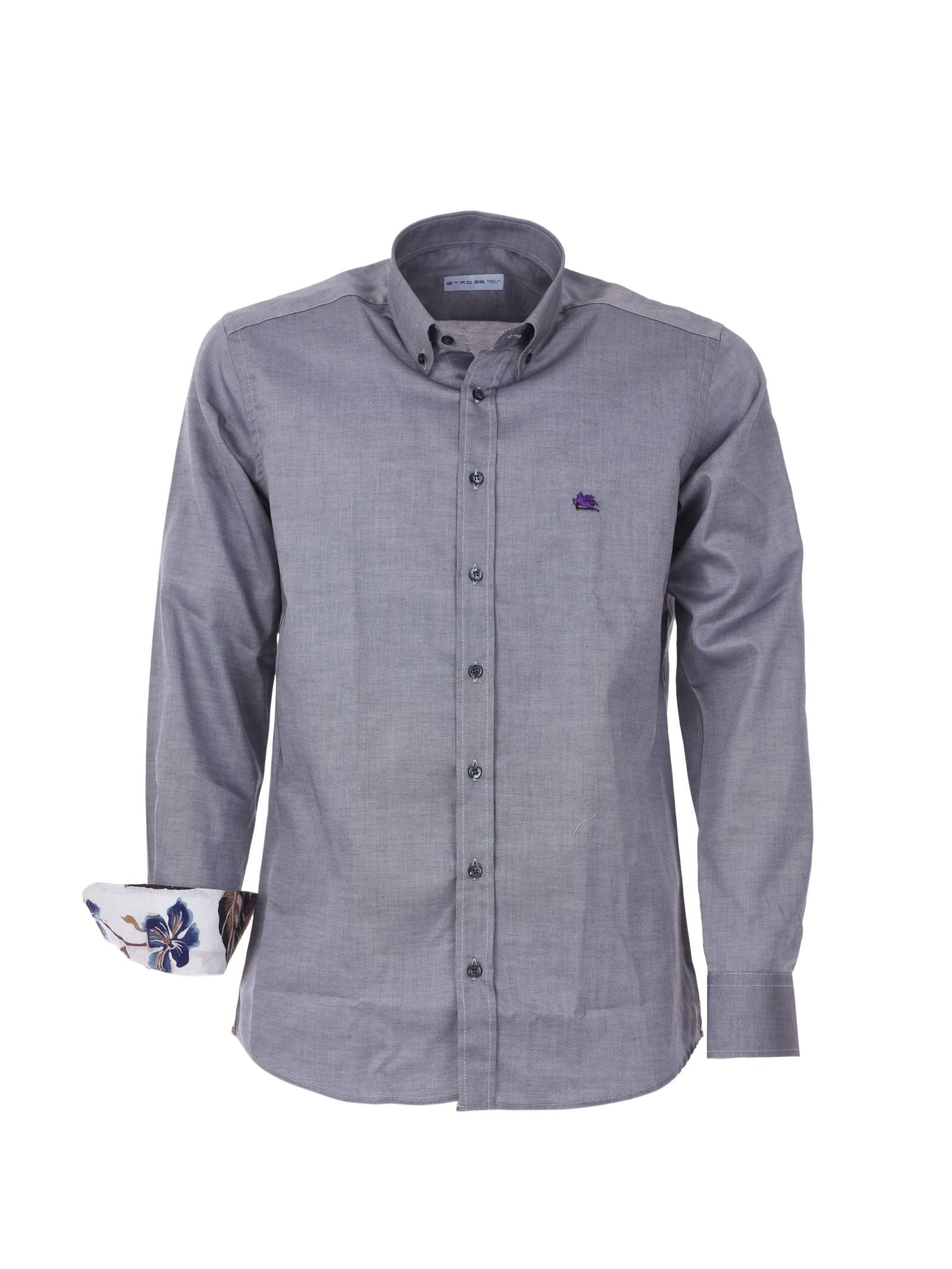 Etro Grey Cotton Shirt