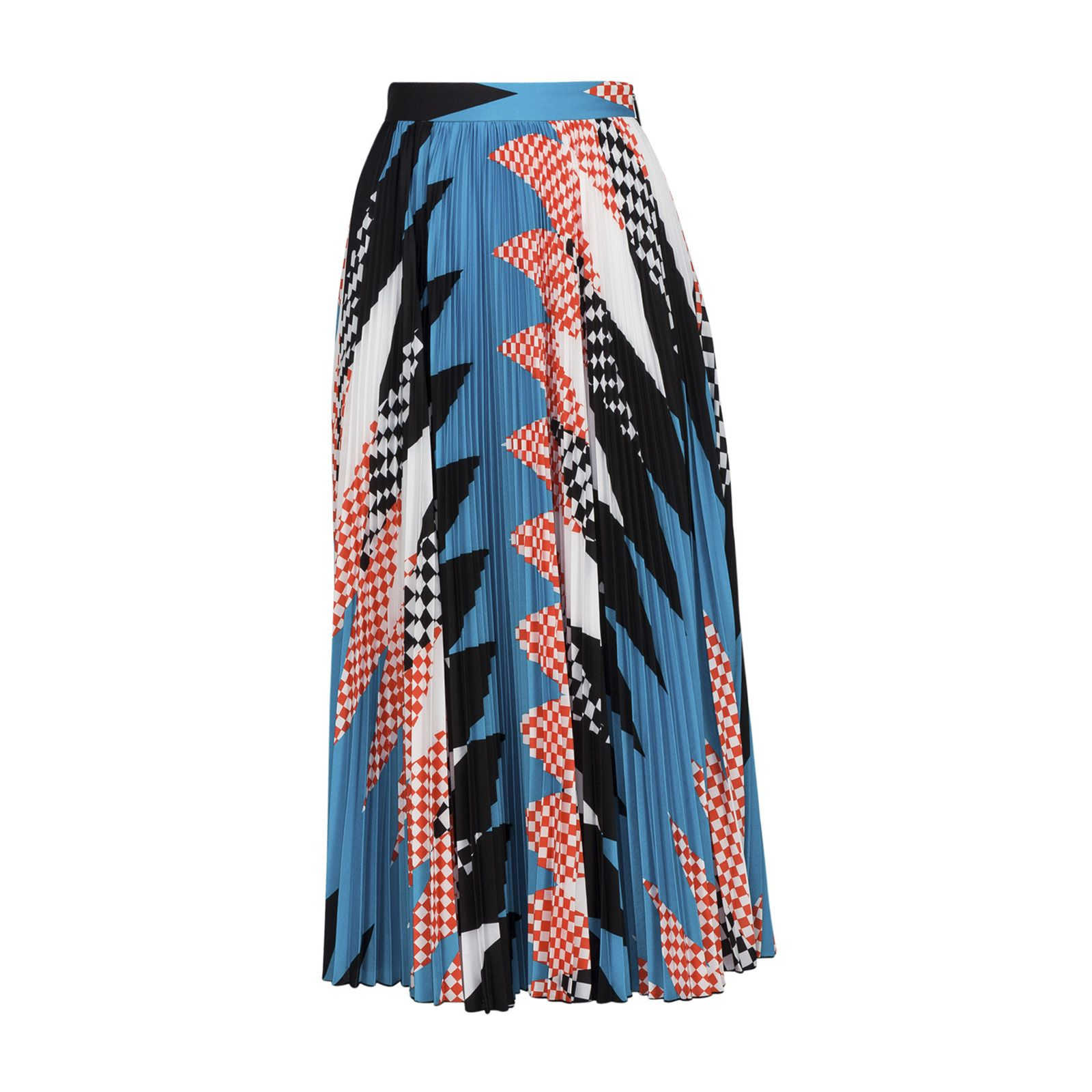 Msgm Pleated Novelty Print Skirt