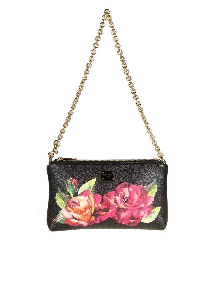 Dolce & Gabbana Micro Bag In Floral Printed Leather