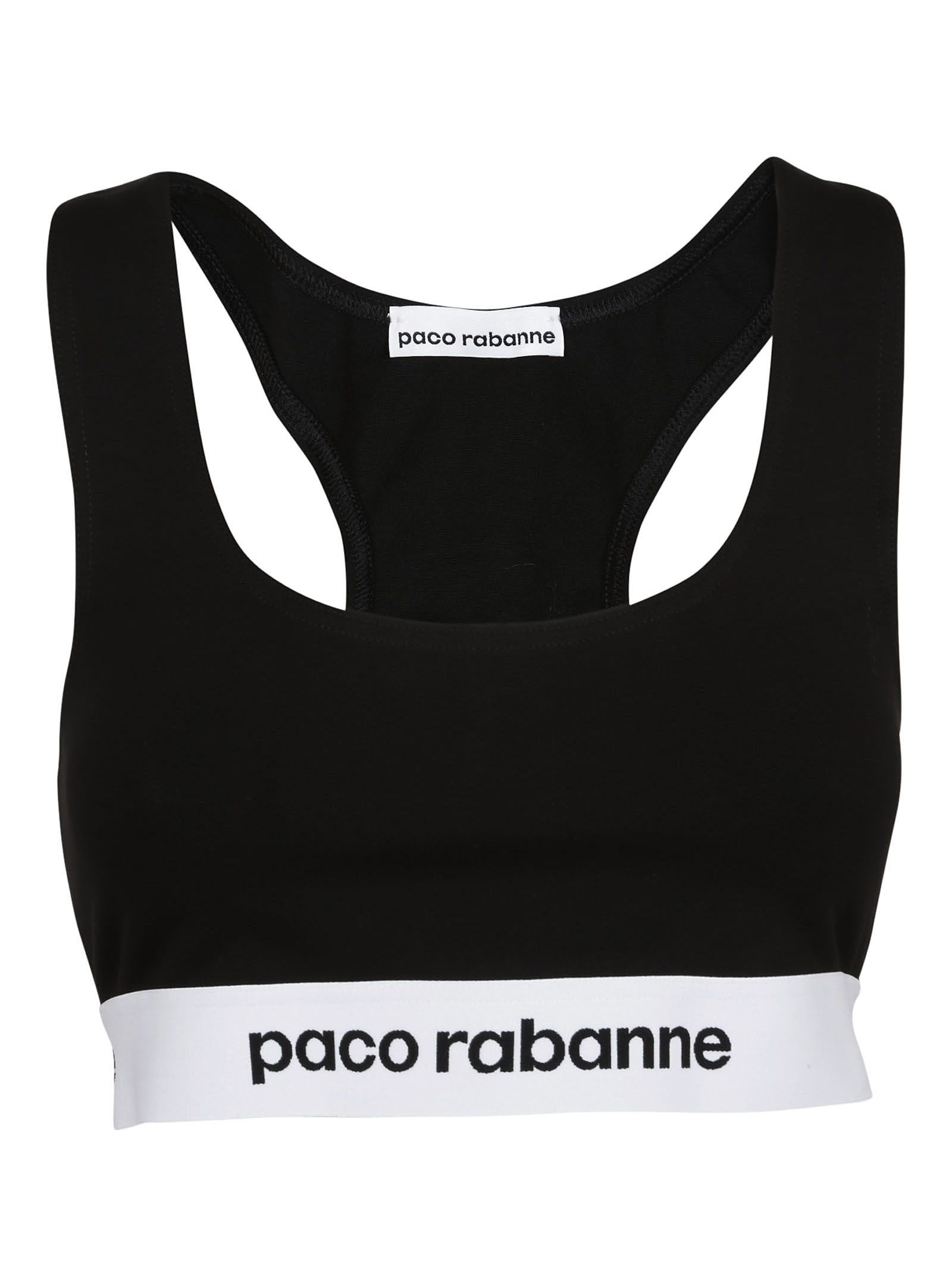 Paco Rabanne Logo Elasticated Sports Bra