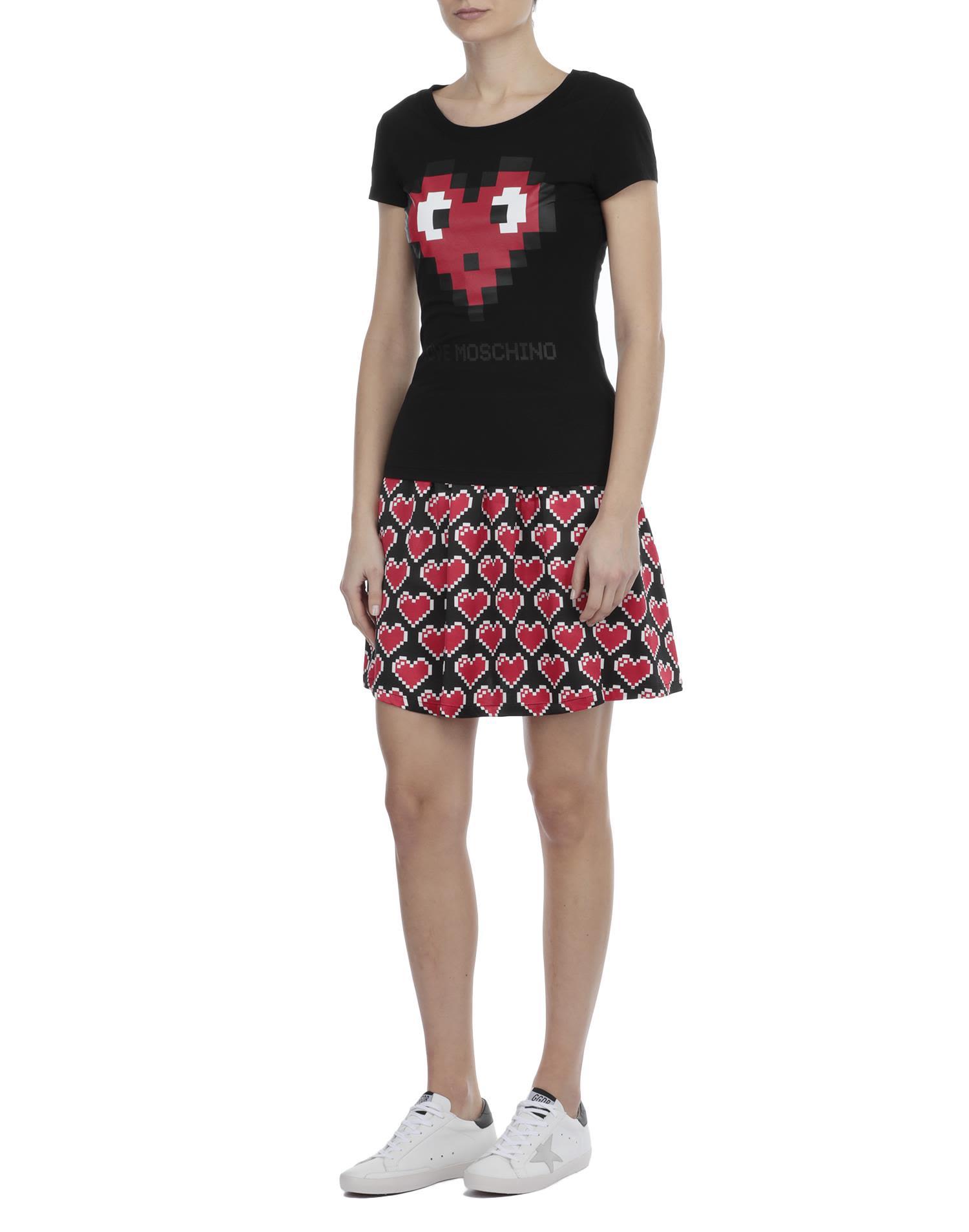 love moschino love moschino cotton t shirt black women 39 s short sleeve t shirts italist. Black Bedroom Furniture Sets. Home Design Ideas