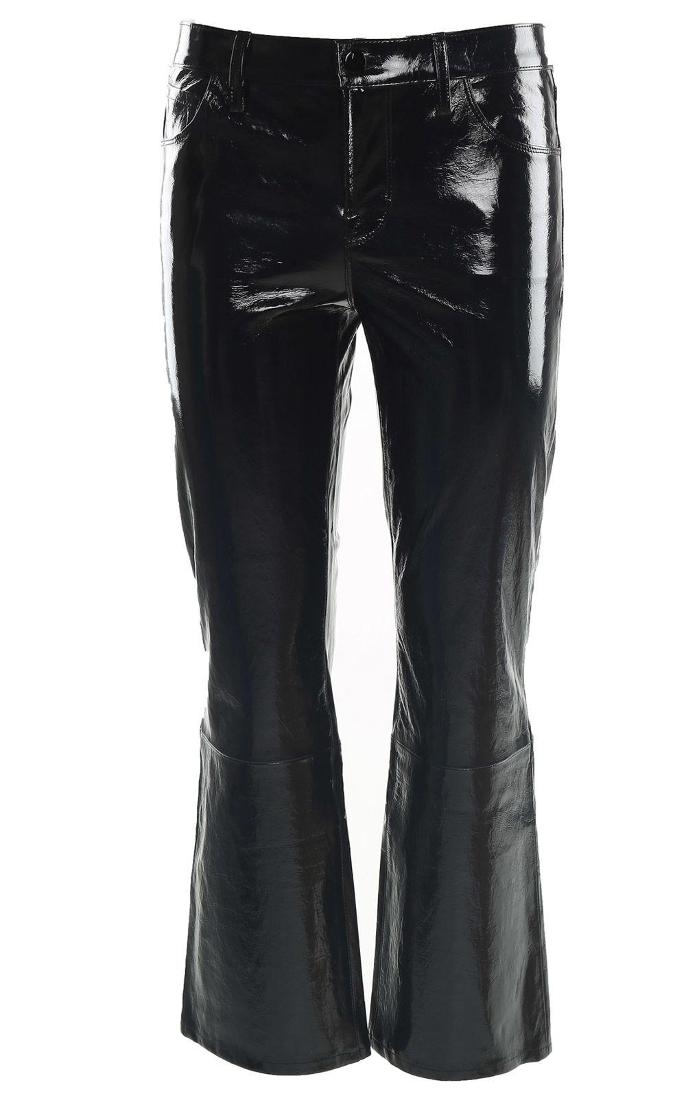J Brand Selena Boot Cut Stretch Patent-leather Jeans