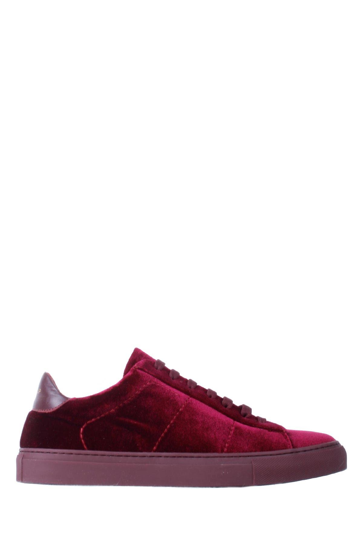 Dondup Leather-velvet Burgundy Woman Sneakers