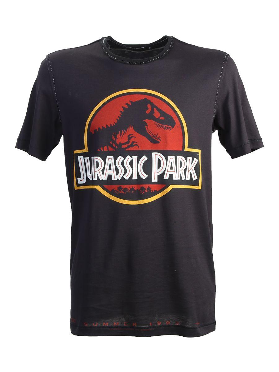 Jurassic Park Printed Cotton T-shirt