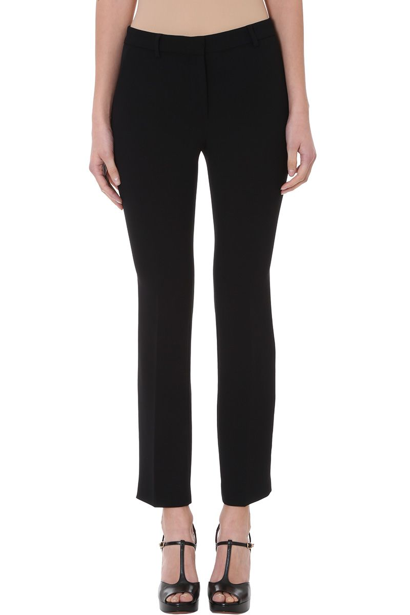 LAutre Chose Black Crepe Trousers