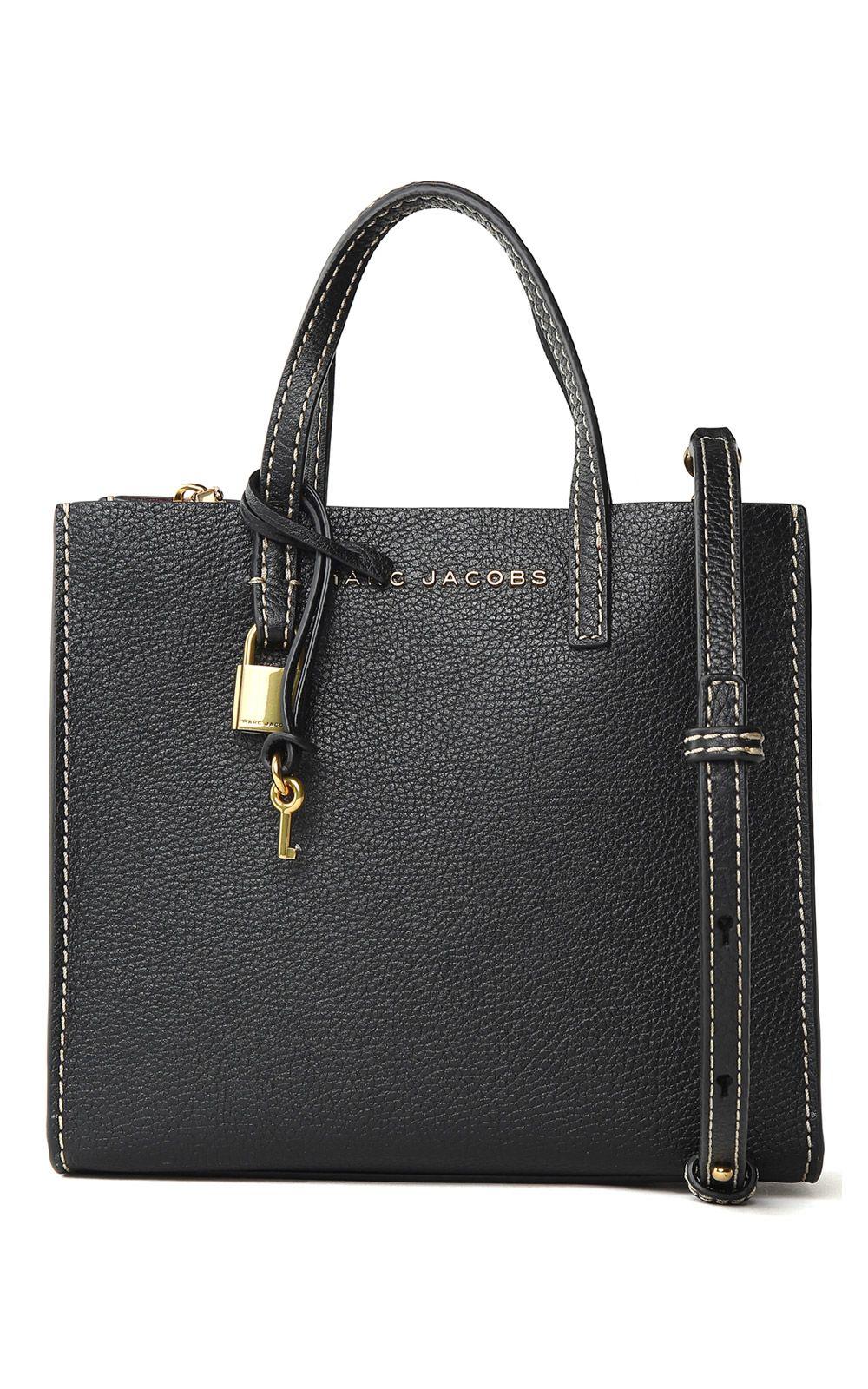 Marc Jacobs The Mini Grind Grained-leather Shoulder Bag