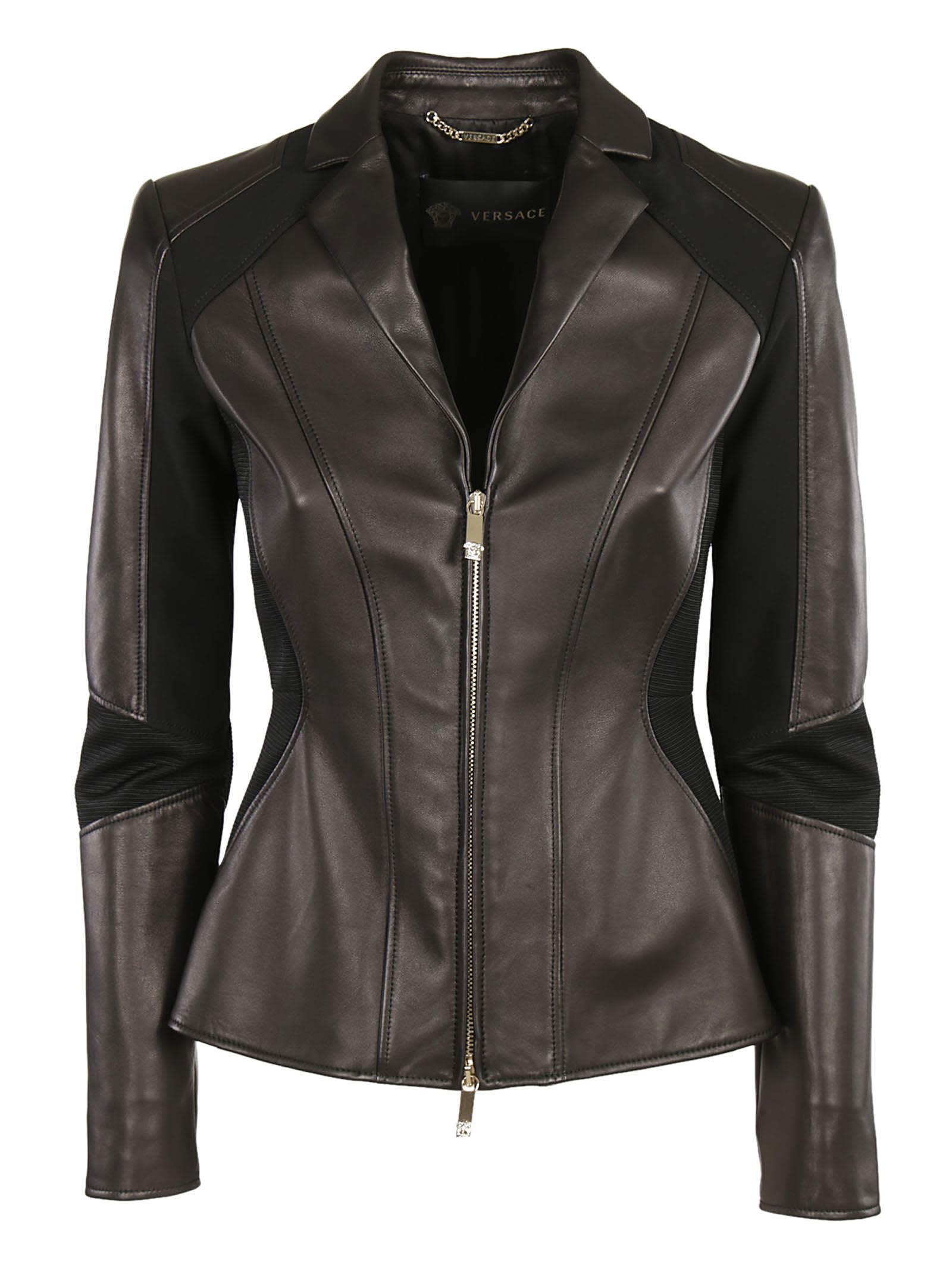Versace Paneled Biker Jacket
