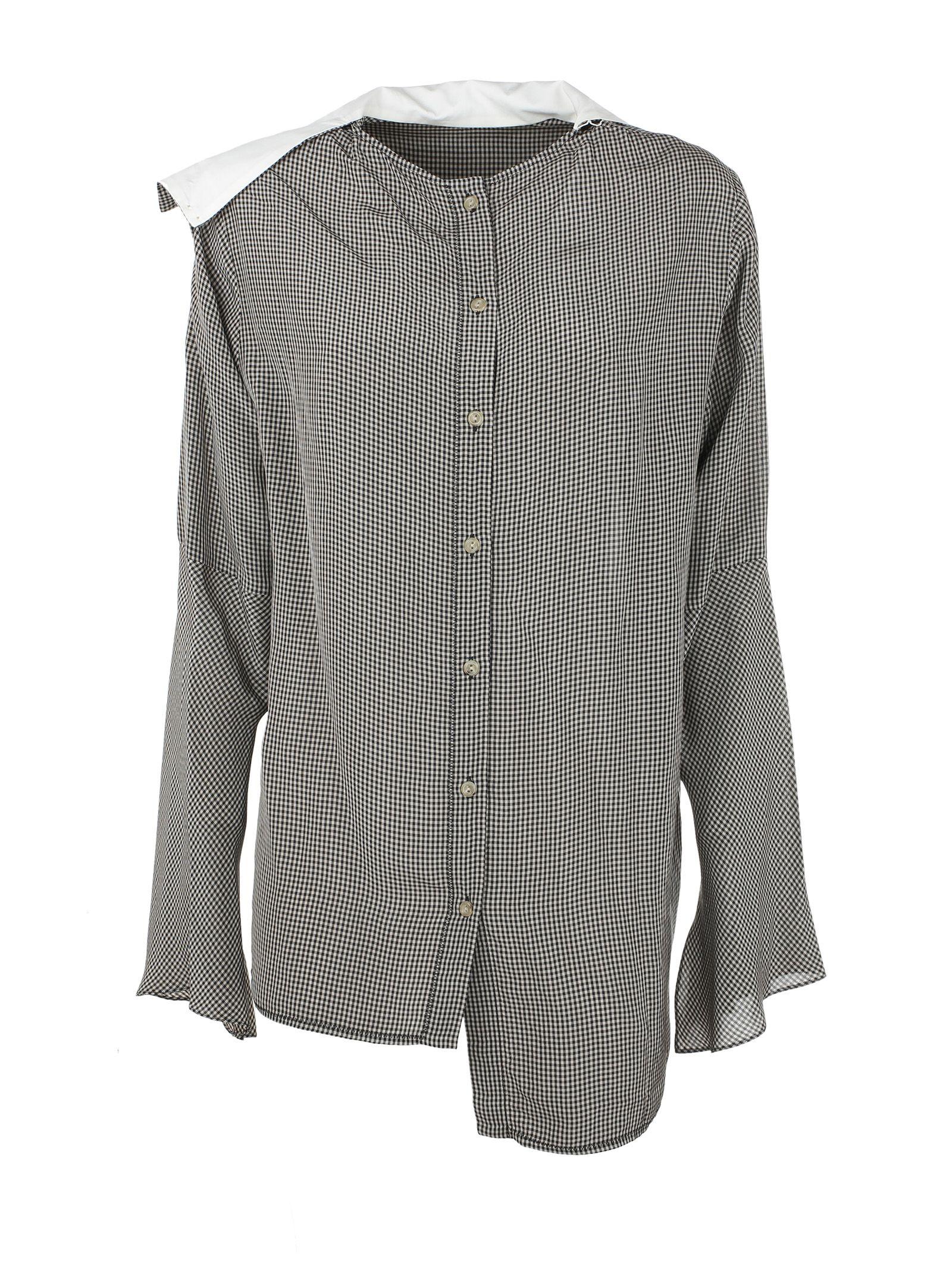 Acne Studios Beau Check Crepe Shirt