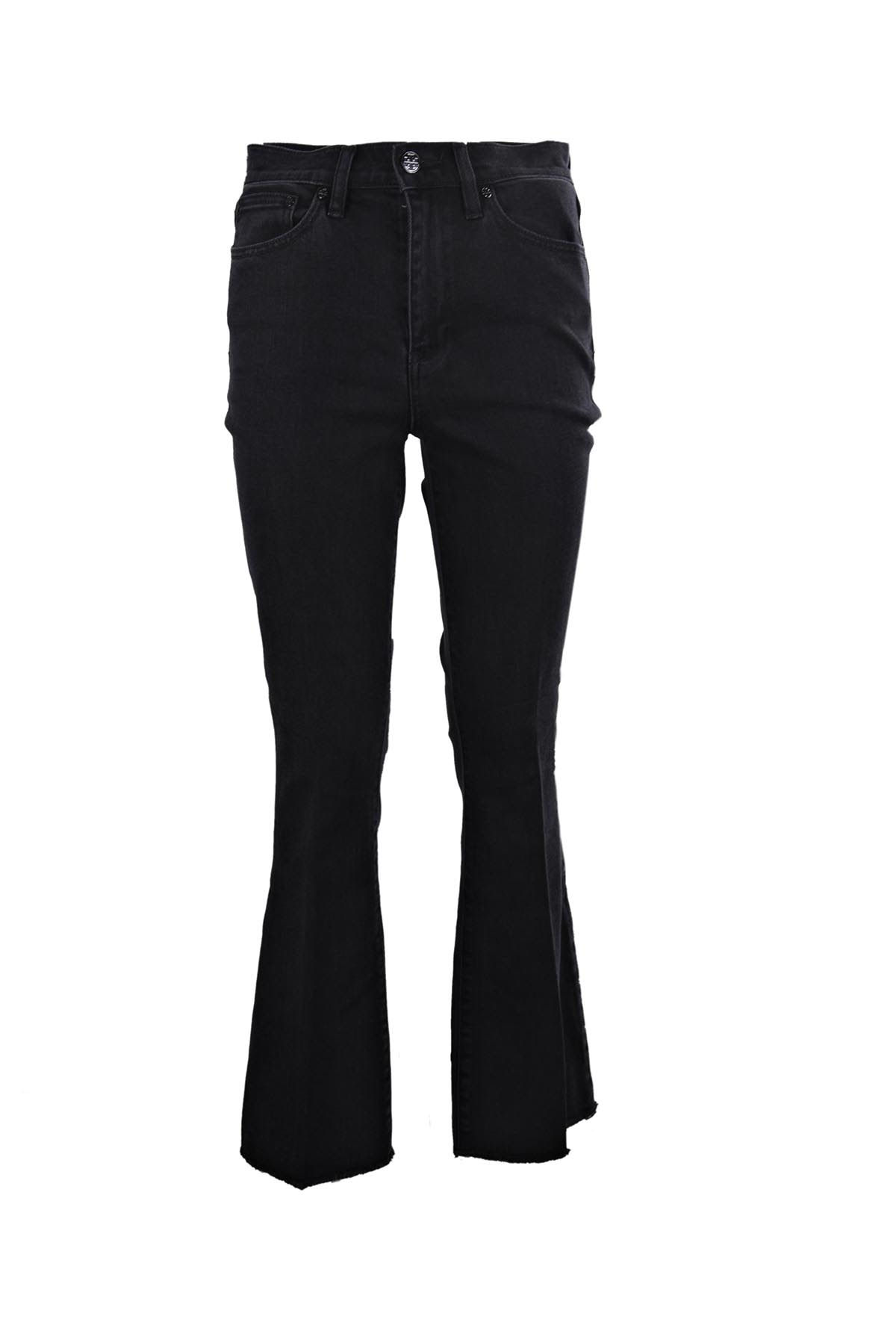 Wade frayed flare jeans - Black Tory Burch