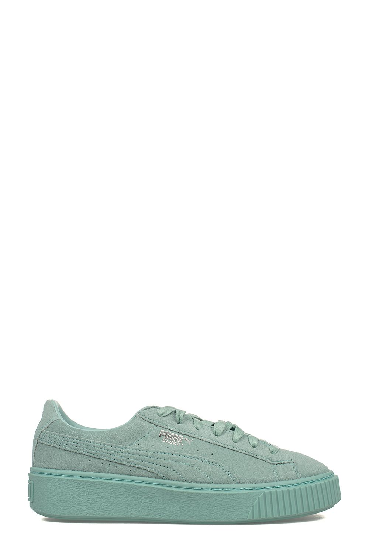 Aruba Blue Platform Suede Sneakers