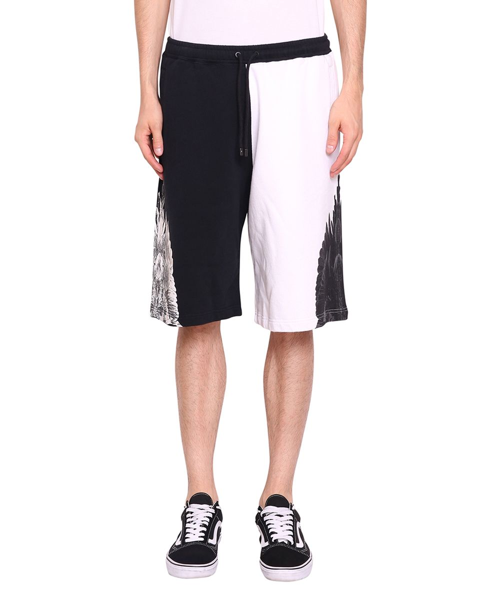 Marcelo Burlon Bicolor Wing Cotton Shorts