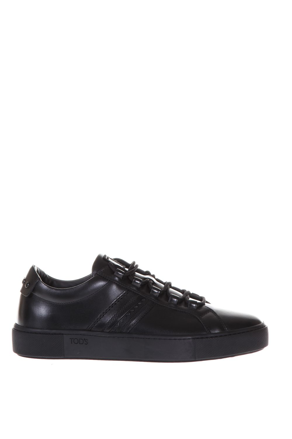 Tods Leather Sneakers With Tods Stitched Monogram