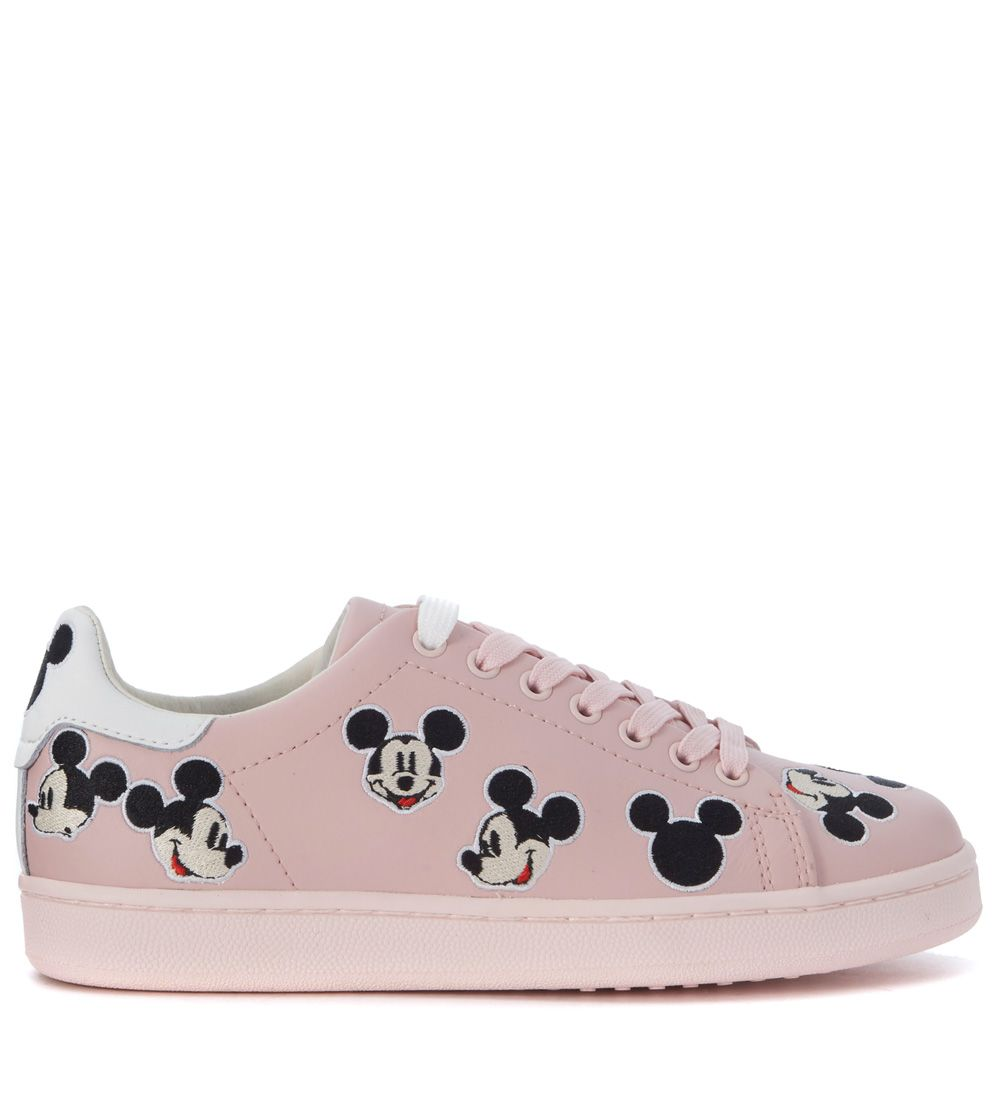 Sneaker Moa Mickey Mouse In Pink Leather