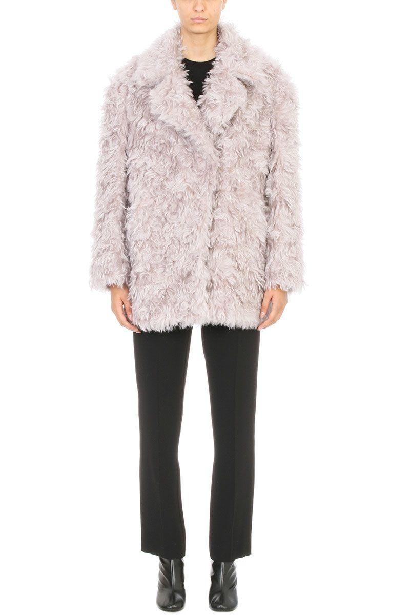 Maison Margiela Dusky Pink Mohair Shagpile Coat