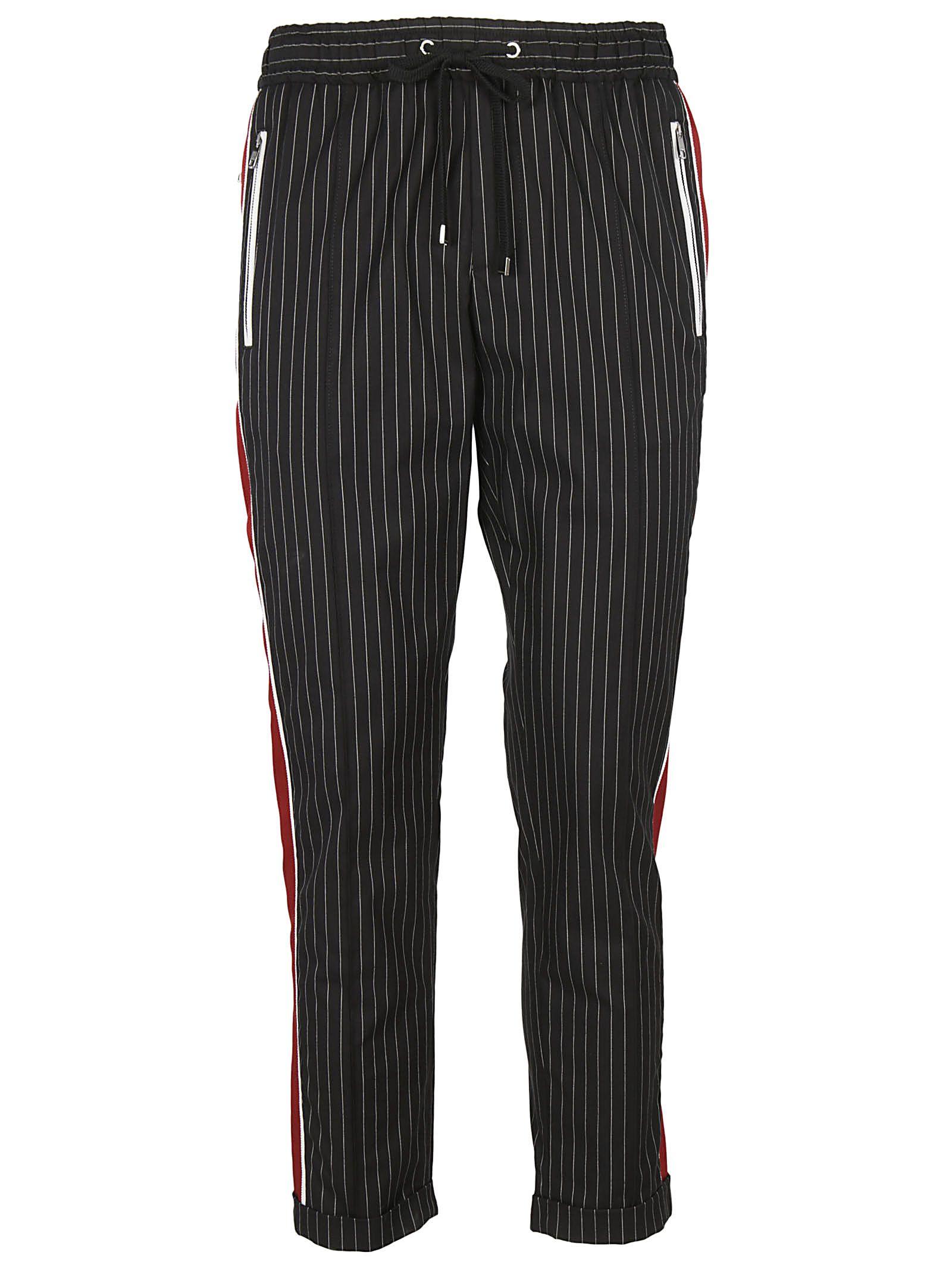 Dolce & Gabbana Pinstriped Track Pants