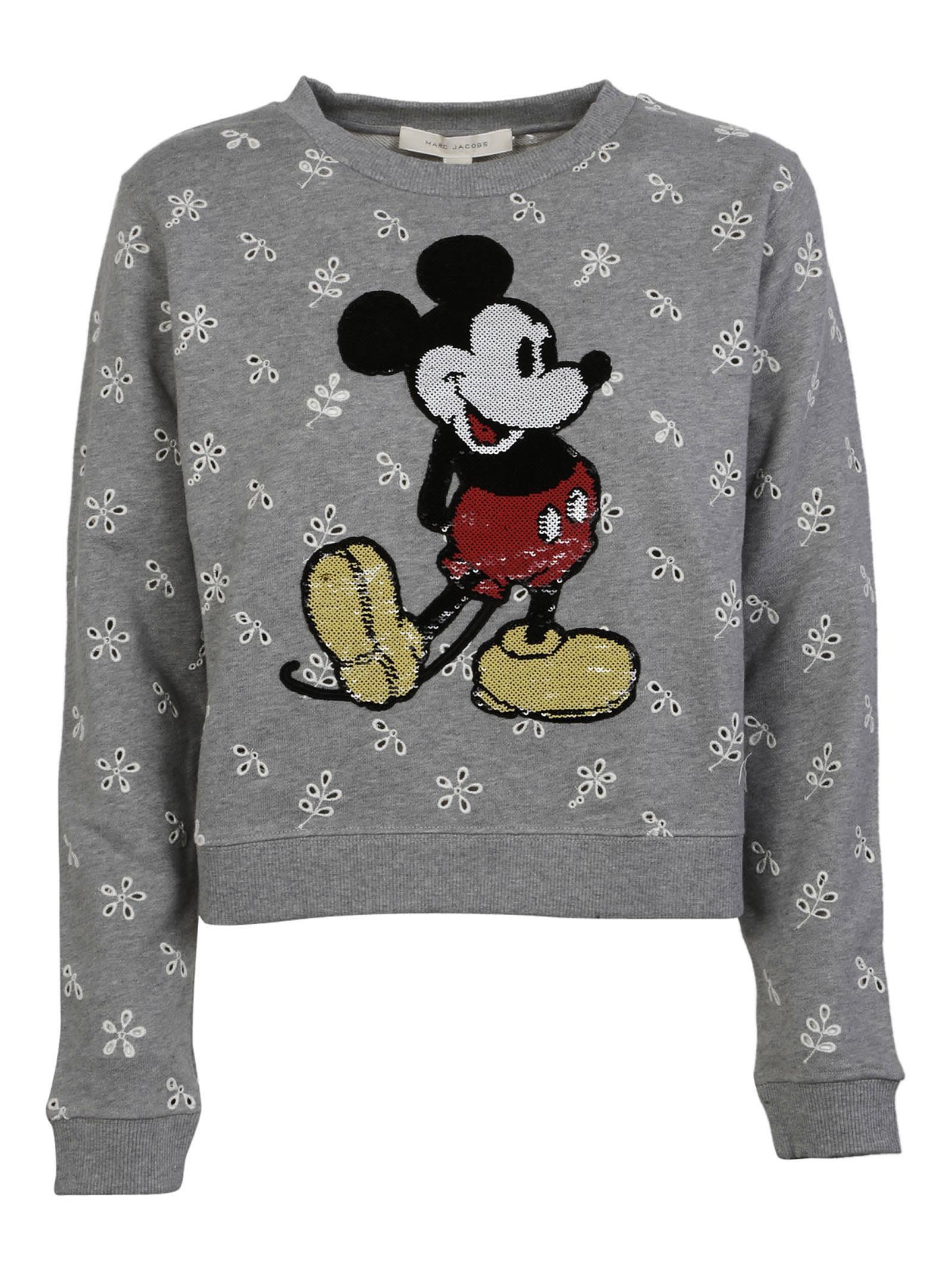 Marc Jacobs Shrunken Eyelet Sequin Mickey Sweatshirt