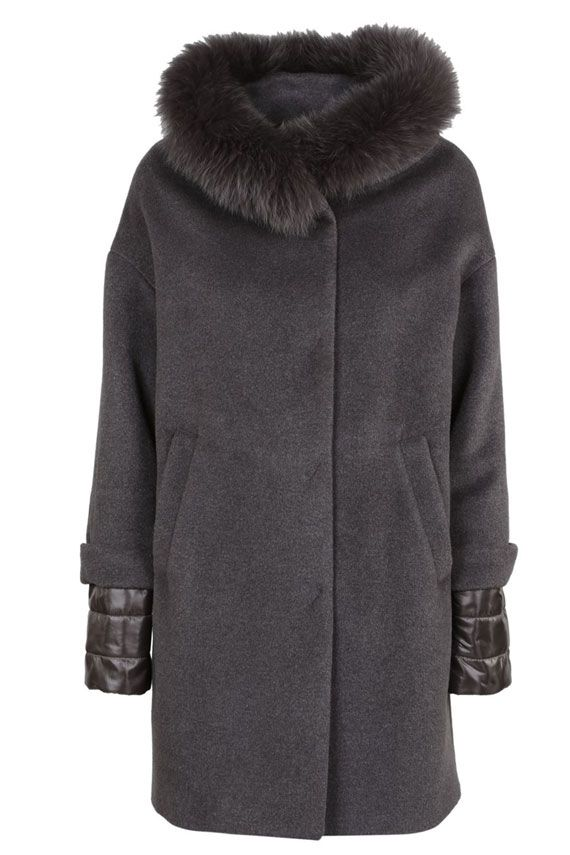 Herno Coat With Collar In Hair