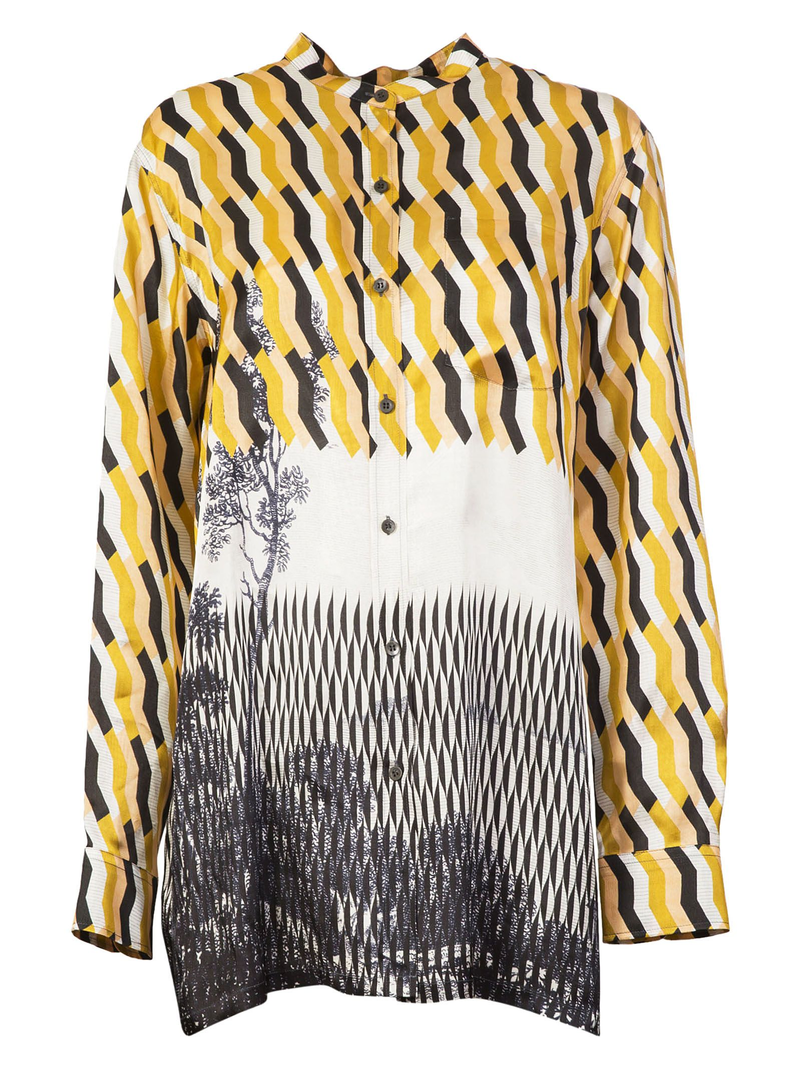 Dries Van Noten Calyba Geometric Print Shirt