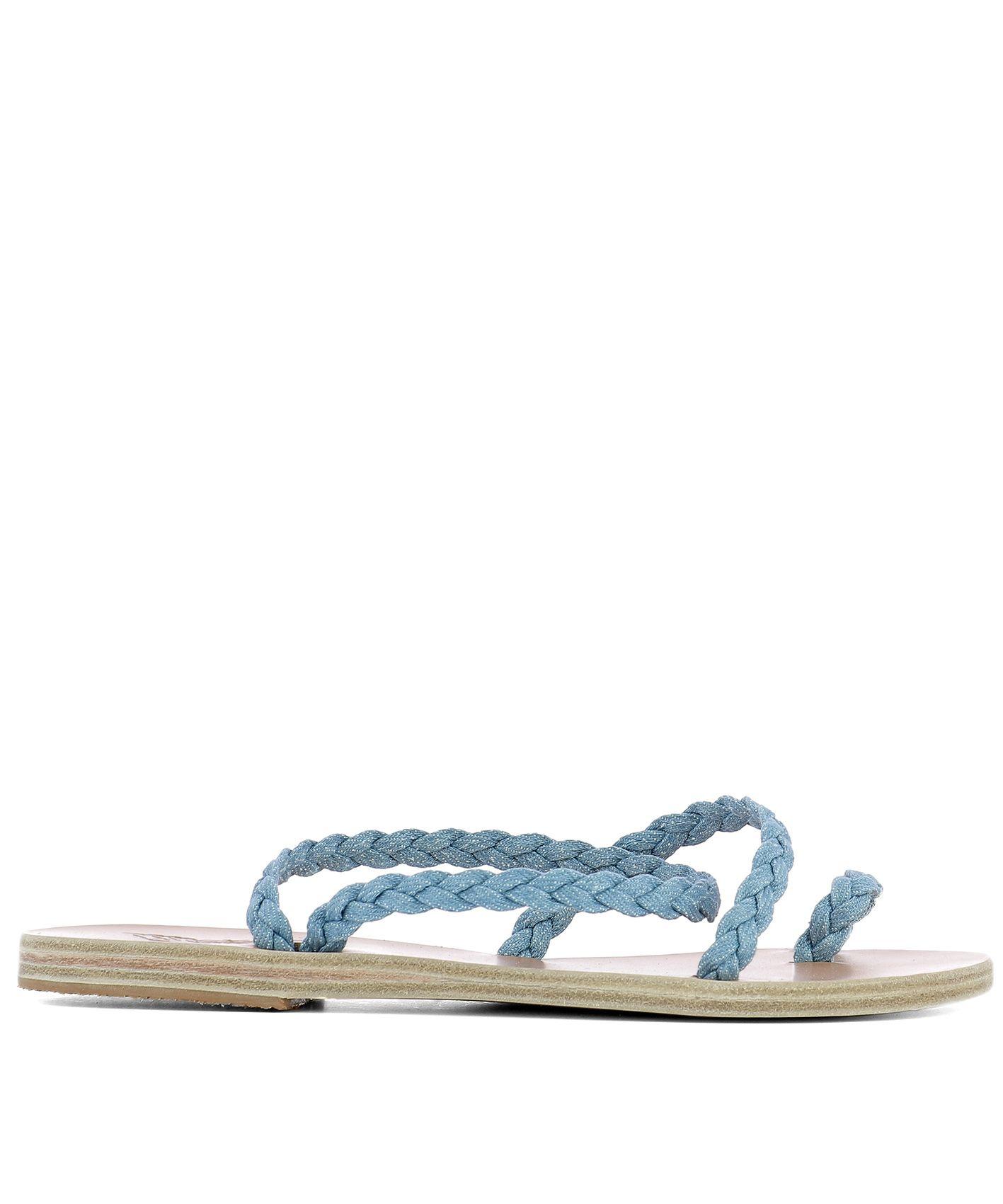 Light Blue Fabric Sandals
