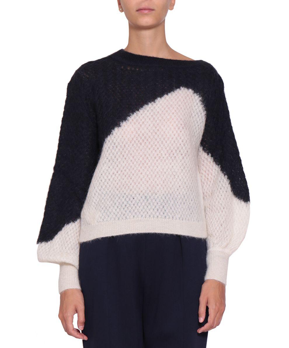 Delpozo Asymmetric Mohair And Alpaca Sweater