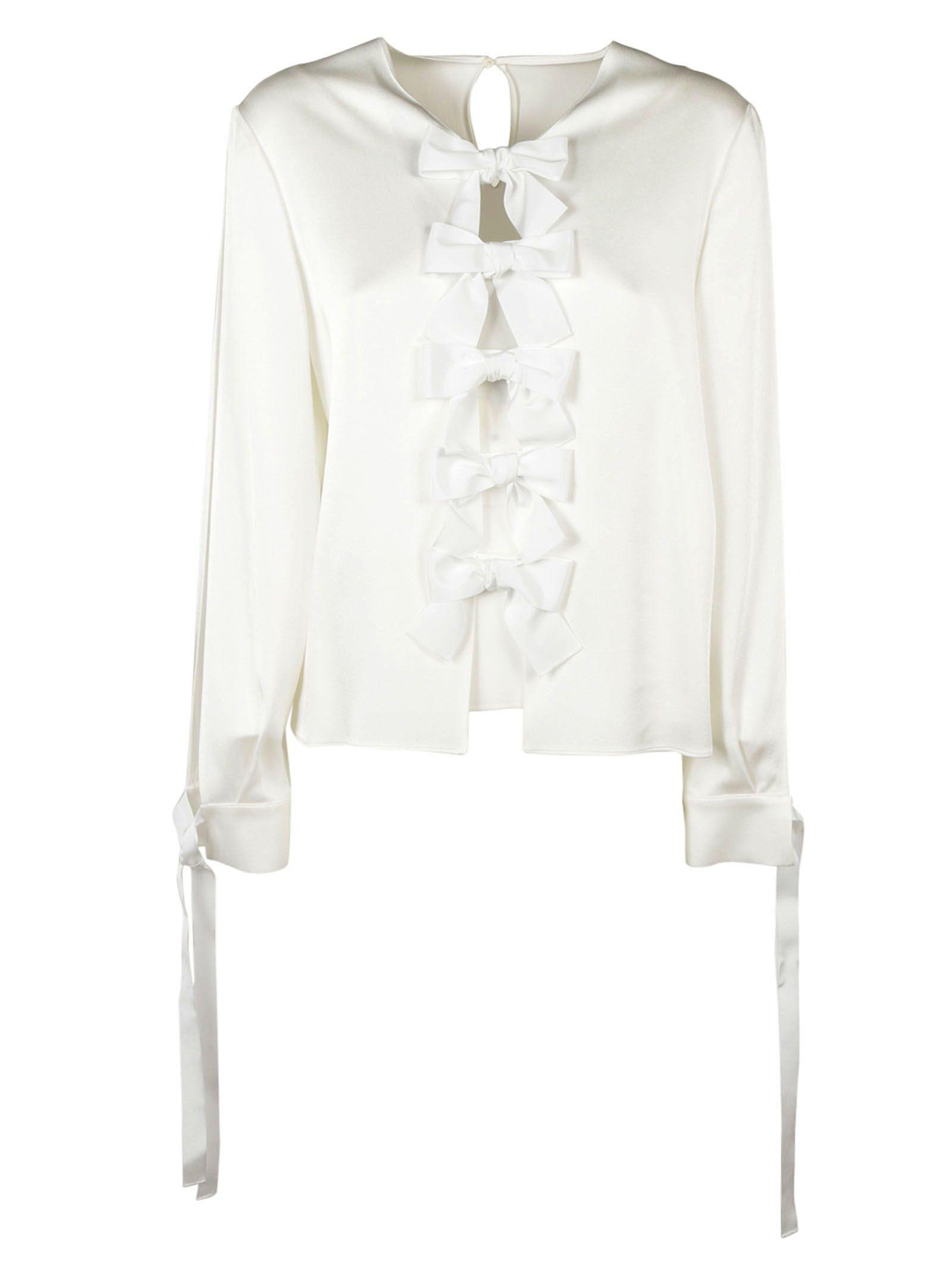 Fendi Bow Embellished Blouse