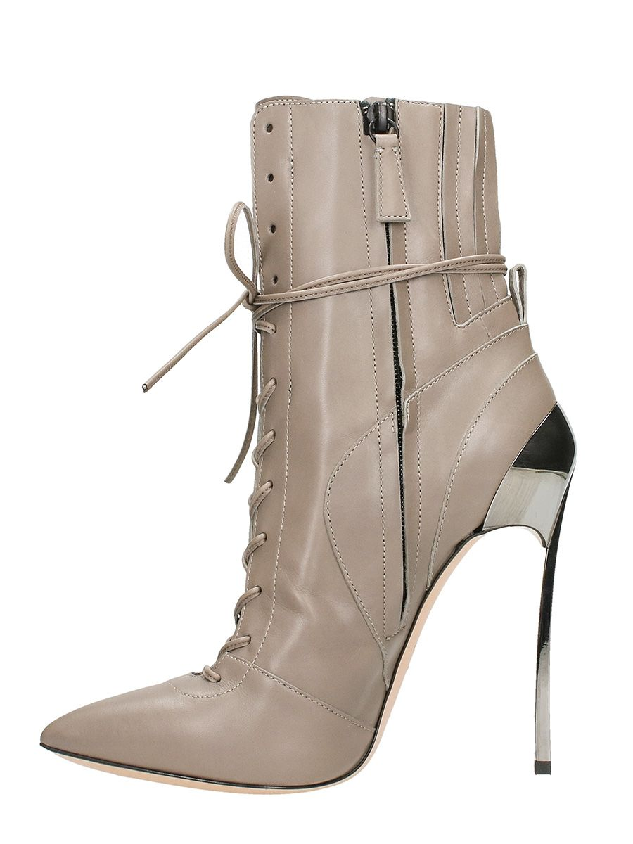 casadei casadei techno blade ankle boots taupe women 39 s boots italist. Black Bedroom Furniture Sets. Home Design Ideas