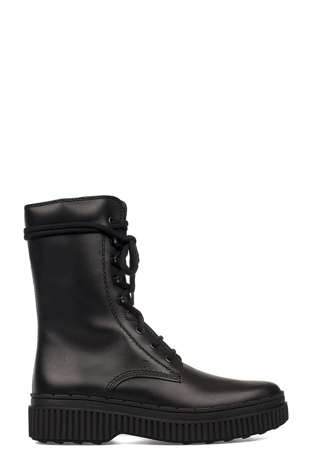 Tod's  BLACK LEATHER LOW BOOT