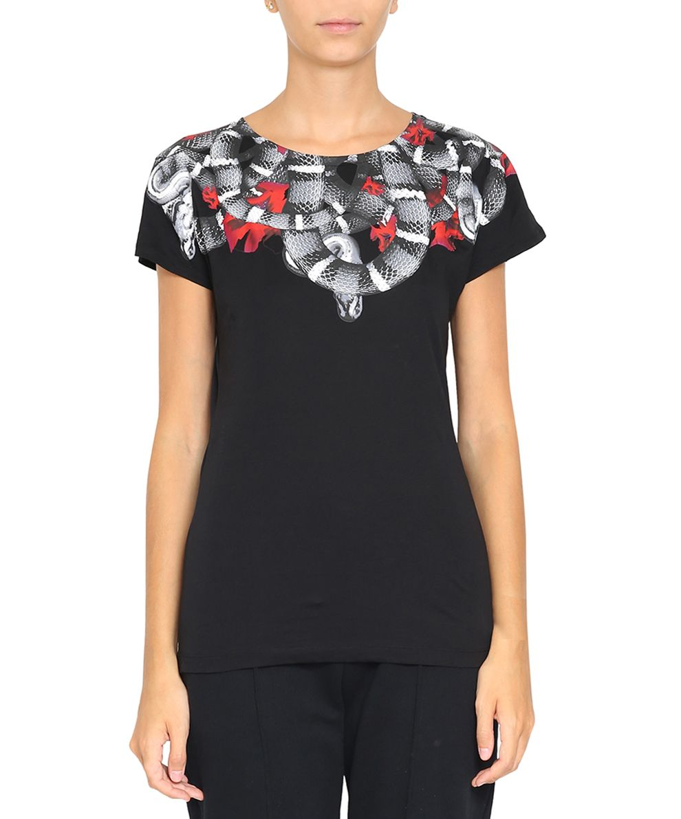 Marcelo Burlon Flower Snake Cotton T.shirt