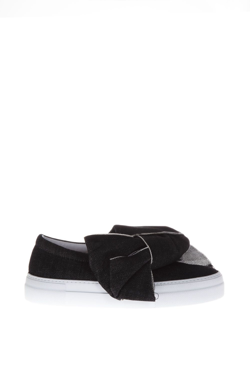 Joshua Sanders Denim Wash Slip-on Bow
