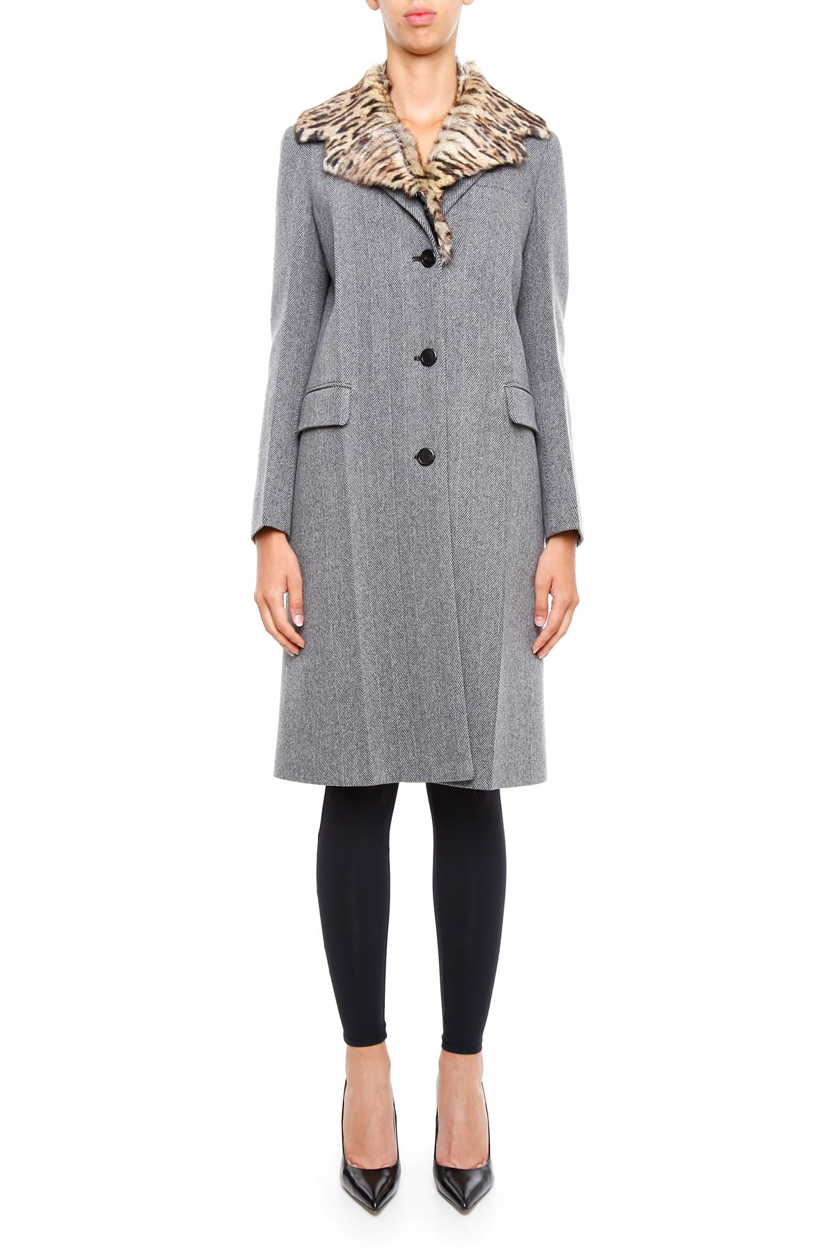 Chevron Wool Coat