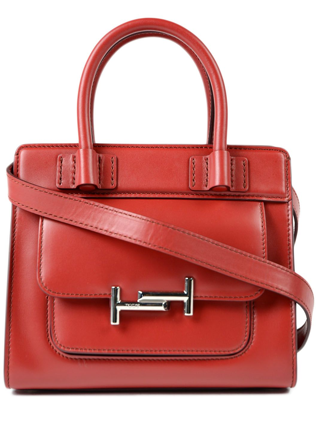 Tods Double T Buckled Tote