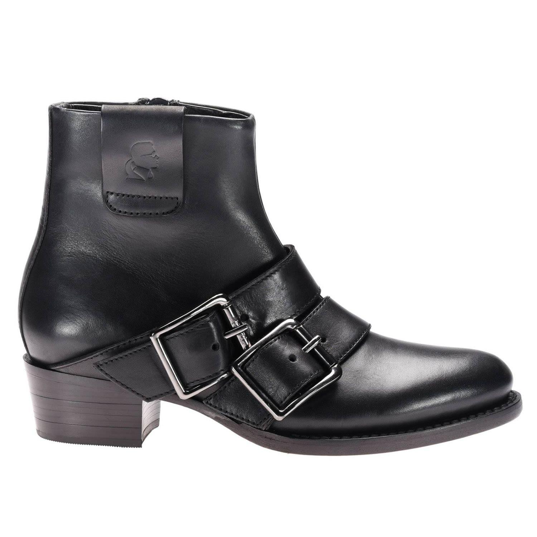 karl lagerfeld flat booties shoes women karl lagerfeld black women 39 s boots italist. Black Bedroom Furniture Sets. Home Design Ideas
