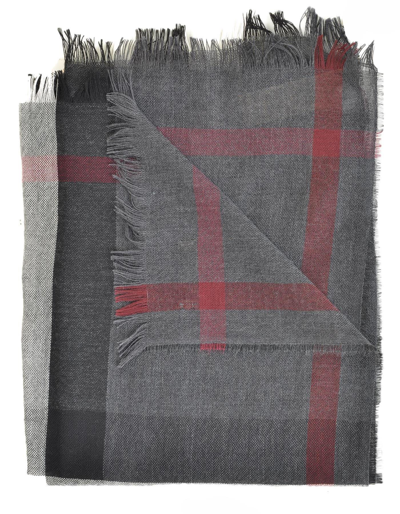 Burberry Wool And Cashmere Scarf