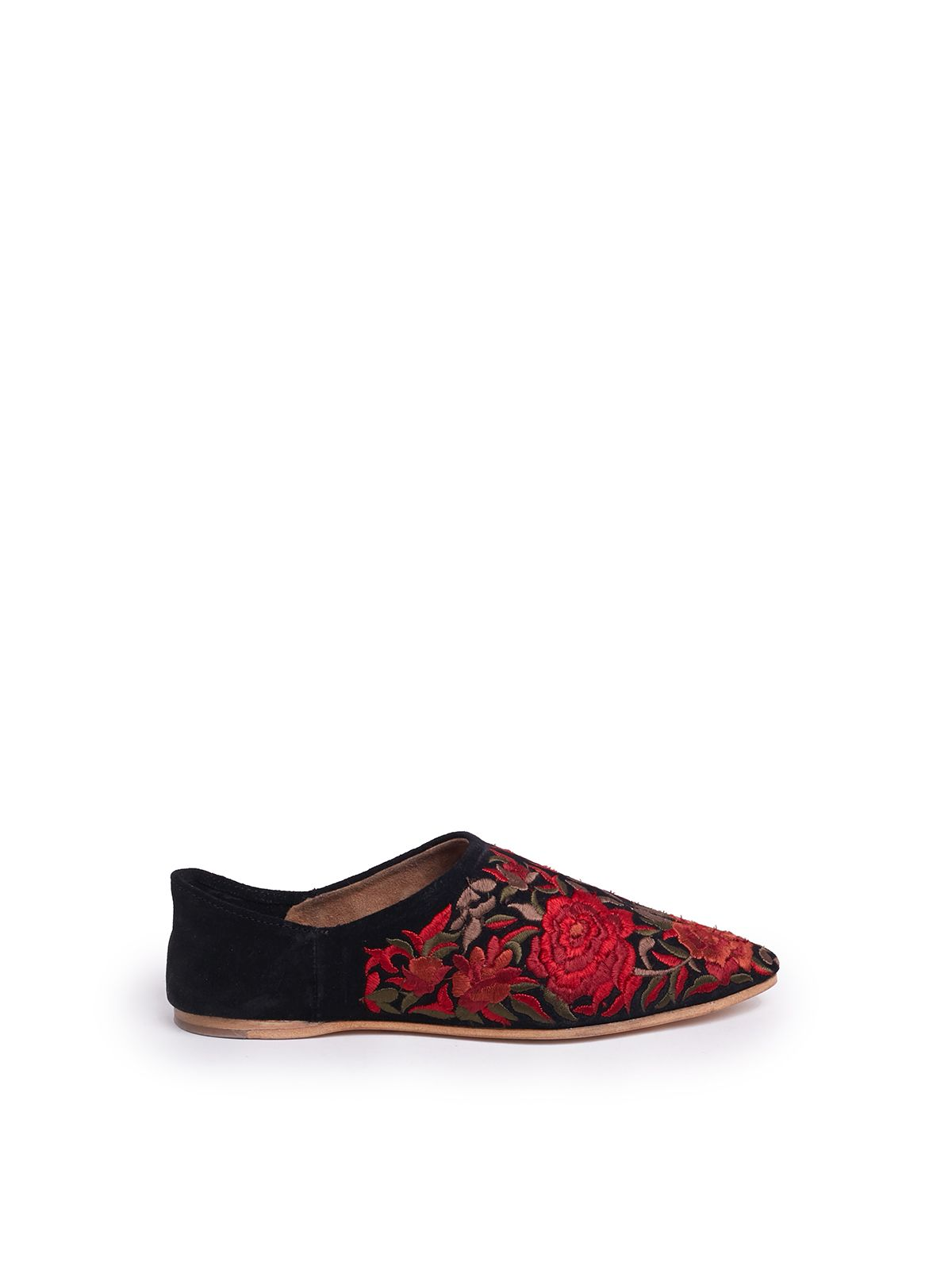 Jeffrey Campbell Embroidered Floral Slippers