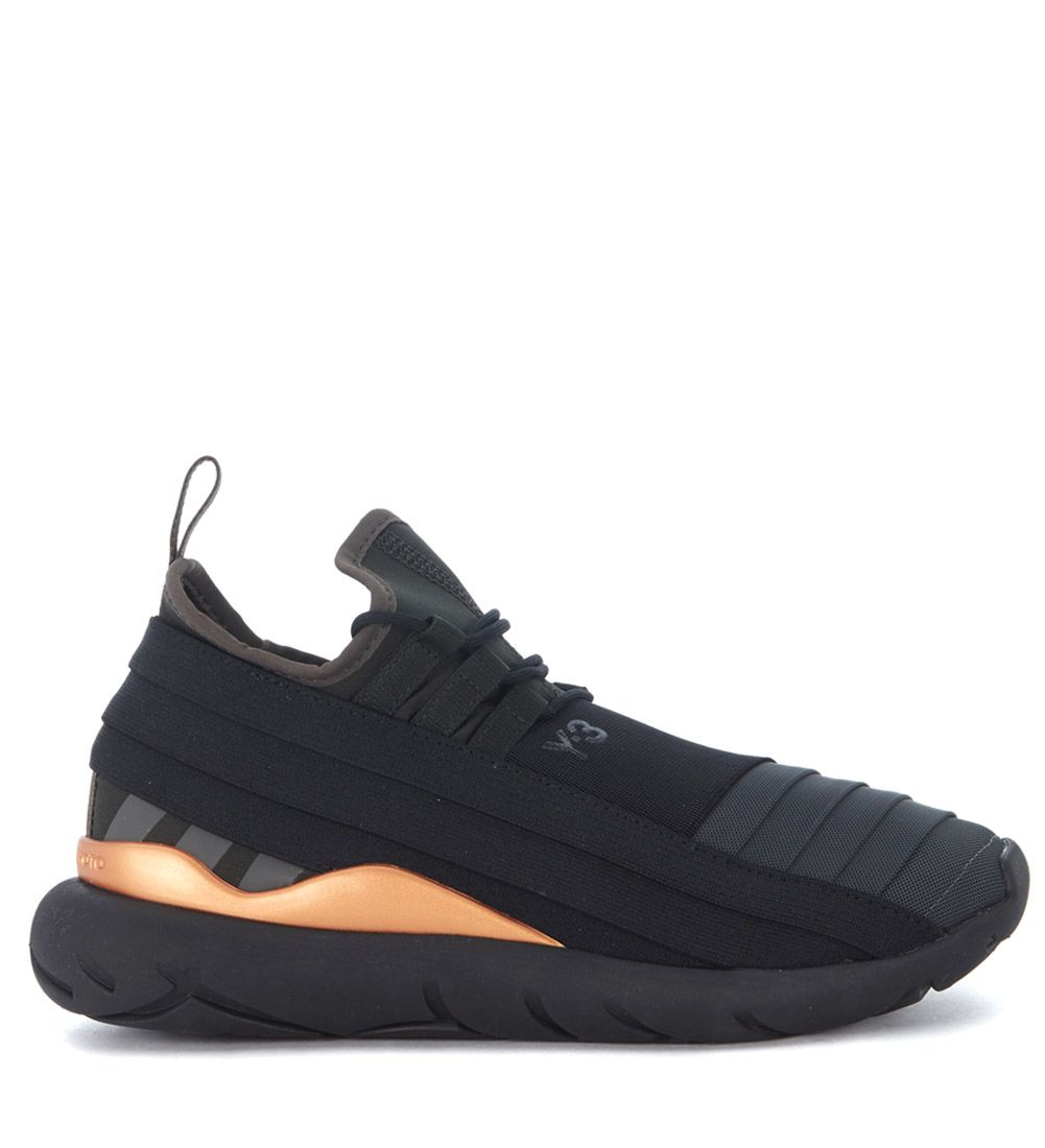 Y-3 Qasa Elle Lace Black Technical Fabric Sneaker