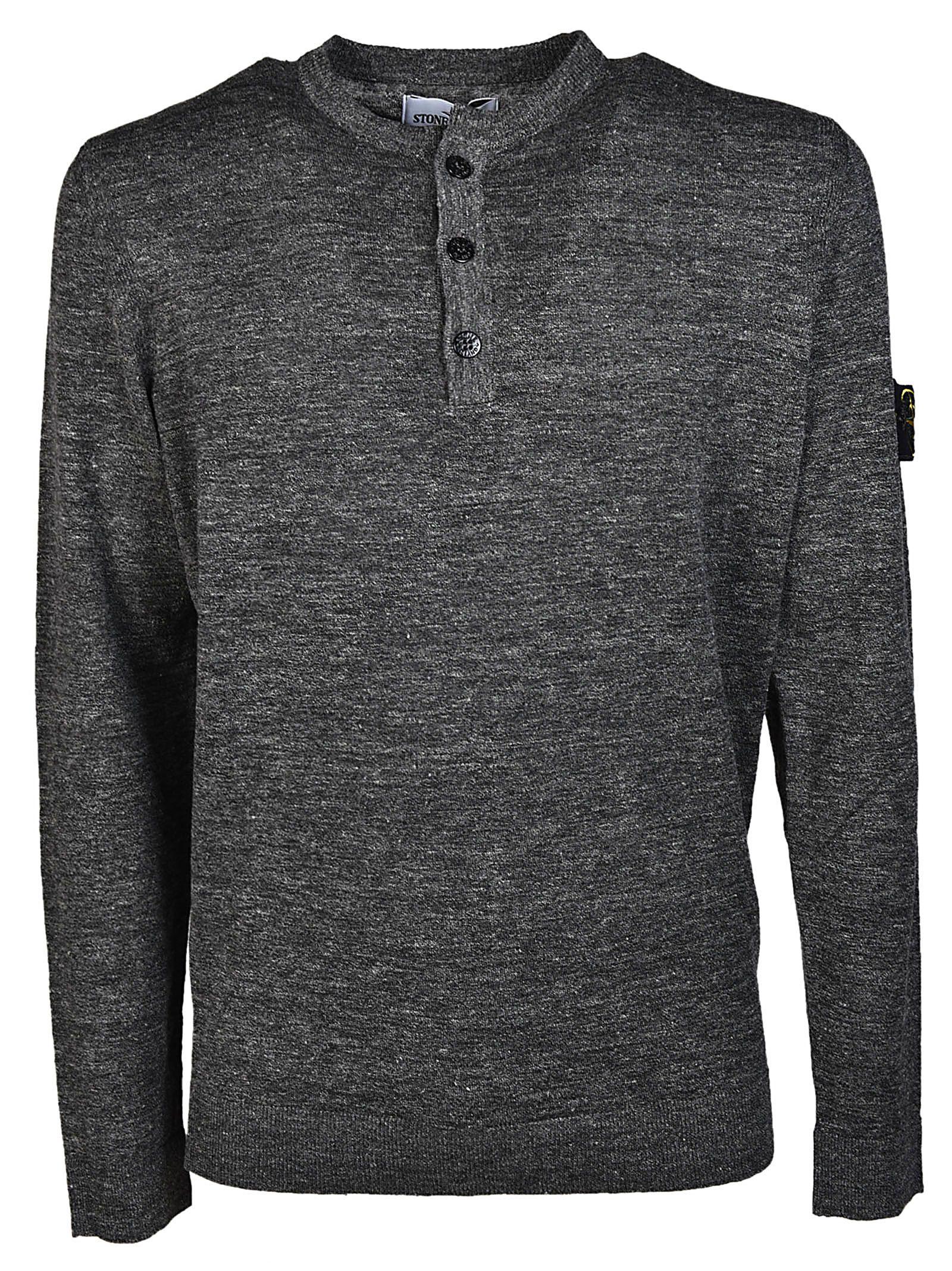 Stone Island Buttoned Sweatshirt