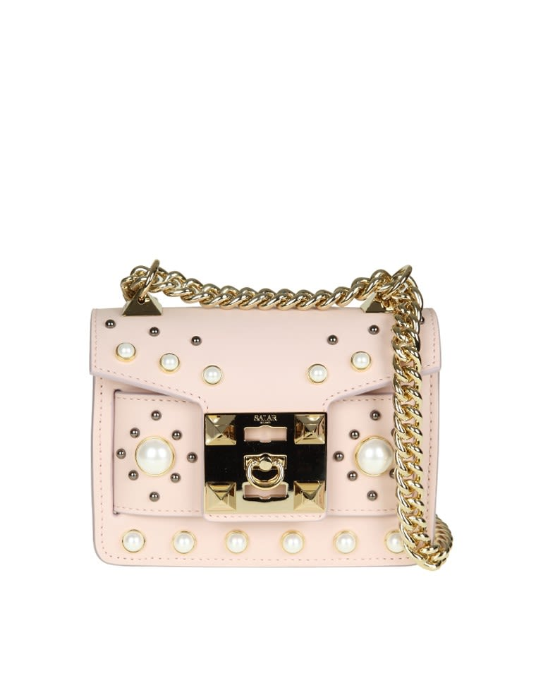 Salar BAG GAIA PEARL IN PINK LEATHER
