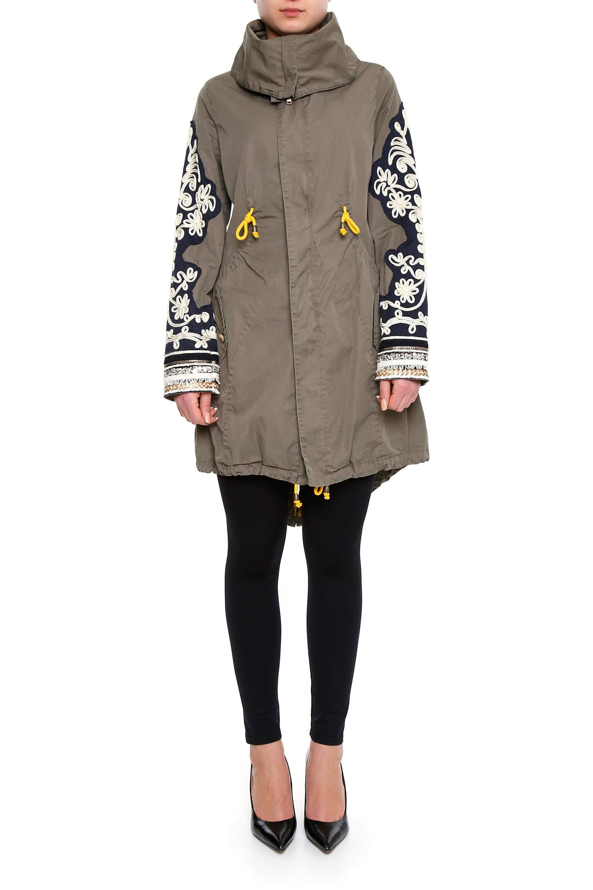 Long Embroidered Parka