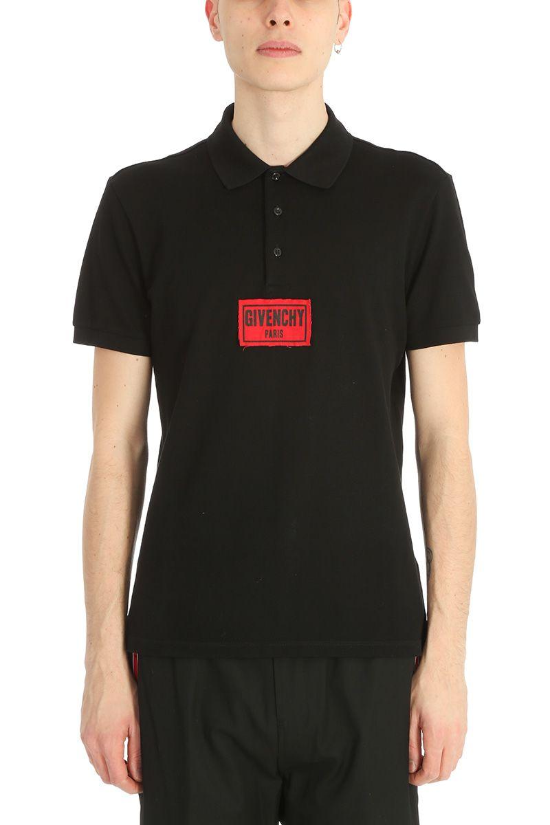 Givenchy Black Cotton Polo