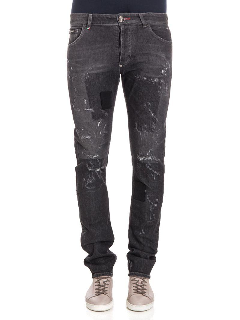 philipp plein philipp plein sozen jeans black men 39 s. Black Bedroom Furniture Sets. Home Design Ideas
