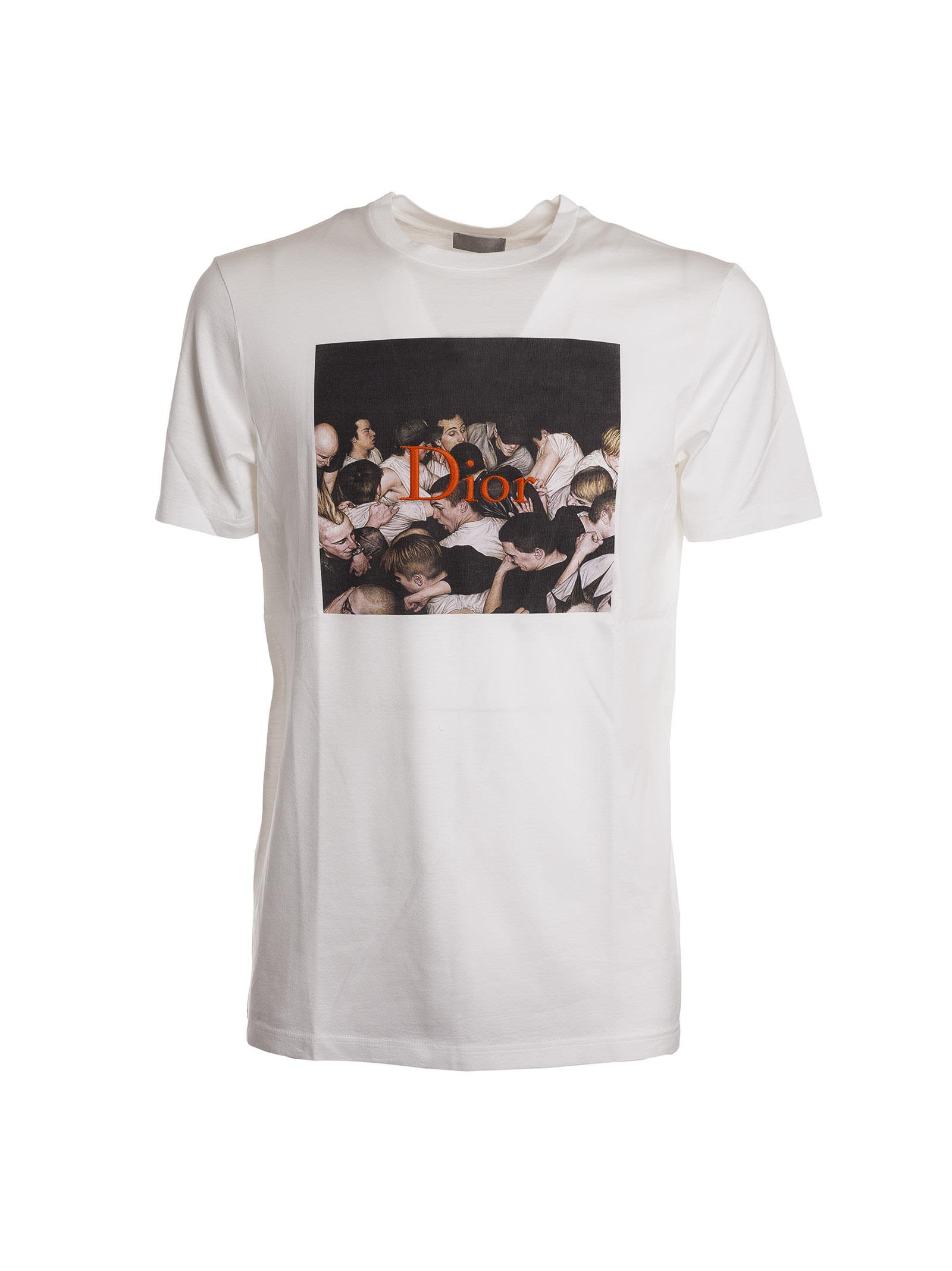 6d5ebf07 Dior Homme Dan Witz Print Embroidered T-Shirt In White   ModeSens