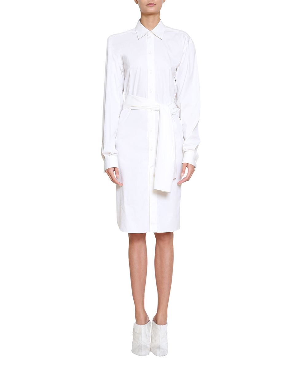Givenchy Belted Cotton Shirt Dress