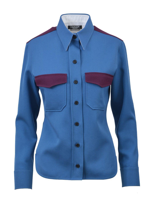 Calvin Klein Wool Two-coloured Shirt